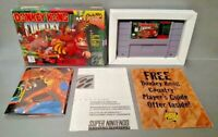 Donkey Kong Country - Super Nintendo SNES Cart Tested Authentic Box