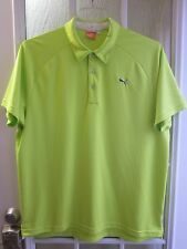Puma USP DRY Sport Life Style Lime Green Short Sleeve Polo Shirt Men XL **Mint*