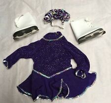 AMERICAN GIRL PLEASANT COMPANY RETIRED PURPLE SPARKLE ICE SKATING OUTFIT