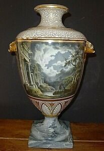 Chamberlains Worcester Important RARE Museum Nocturnal Greco Roman Vase c.1820