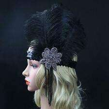 1920s Headband Great Gatsby Flapper Feather Headpiece Hair Band JW2087