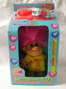 Vintage 1998 IMPERIAL SWEETHEART TROLLS MOMMY AND ME Pink Hair TOY DOLL NEW