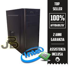 PC DESKTOP INTEL QUAD CORE RAM 8GB / HDD COMPUTER ASSEMBLATO WINDOWS 10 ORIGINAL