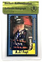 AJ Foyt signed 1991 maxx card indy car 500 champ beckett coa
