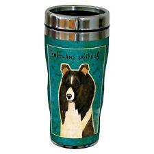 Stainless Steel travel coffee tumbler thermos mug dog picture Shetland Sheepdog