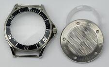 Seamaster solid stainless steel watch case black bezel ETA 2824 seagull ST2130