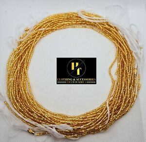 Tie On Waist Beads Belly Chain Add your waist measurement Small Beads