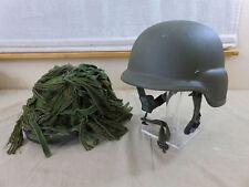 Dinamarca Army kevlar paracaidista CGF Gallet Combat Helmet M + cover + camo