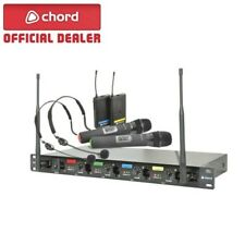 Chord QU4-C Quad (x4) UHF Wireless Handheld Neckband Combo Microphone System