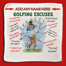 Golf Excuses -  PERSONALISE - MicroFibre Cleaning Cloth - Idea Gift