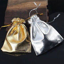 2-100PCS Drawstring Organza Voile Jewelry Favour Wedding Gift Pouch Bags 9X12cm