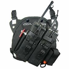 New listing Coaxsher Radio Chest Harness Rig for 2 Way Radio Gps and Hand Held Electronic.