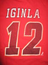 Retro Sports JAROME IGINLA No 12 CALGARY FLAMES (SM) T-Shirt Jersey