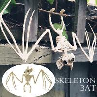 Bat Skeleton Hanging Upside Down Halloween Animal Prop Haunted House Decor