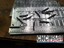 26 Cavity Curly Slick 275 Curly Tail Worm CNC Machined Aluminum Bait Mold