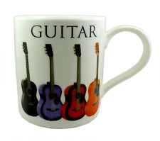 Acoustic Guitar Mug - Music Themed Gift - Musical Mug - Gift for Guitar Student