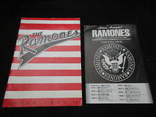 Ramones 1995 Japan Tour Book w Promo Tour Flyer New York Punk Concert Program