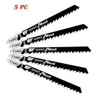 """Jig Saw Blades T-Shank 4"""" 5 pcs 6 TPI for DeWalt SKIL & Makita Fast cutting Wood"""