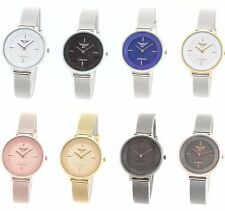 Stainless Steel Strap Polished Watches with 12-Hour Dial