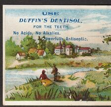 Antique Duffins Dentisol for the Teeth Antiseptic Tooth Product Advertising Card