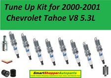 Tune Up Kit for 2000-2001 Chevrolet Tahoe V8 5.3L Spark Plug Wire Set Oil Filter