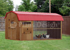 6' x 12' Walk in Barn Chicken Coop Plans, Material List Included # 80612CB