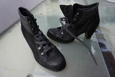schicke PAUL GREEN Damen Schuhe Stiefel Stiefeltte Boots Gr.38 schwarz Leder TOP