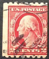 1912 2c Washington Coil regular issue, Scott #411, Used, VG