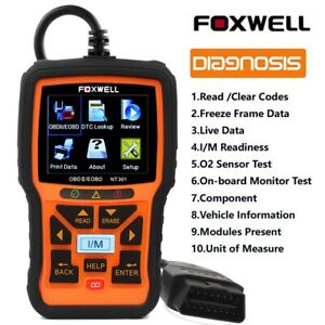 Foxwell NT301 EOBD OBD2 Car Check Engine Code Reader Scanner Diagnostic Tool