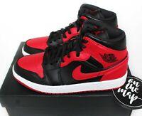 Nike Air Jordan 1 Retro Mid Banned Red Black White UK 3 4 5 6 7 8 9 10 11 US New