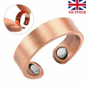 UK Classic Copper Magnetic Ring Magnets Arthritis Therapy Pain Relief Healing