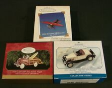 Hallmark Keepsake Ornaments - 1930's Airplanes and Automobiles - Lot of 3 New