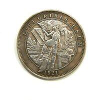 HOBO - NICKELS SOUVENIR DOLLAR 1921 / USA / EXONUMIA SILVERED COIN - TOKEN