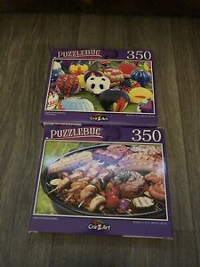 Jigsaw Puzzle 350 Piece Adult/Kid-Backyard BBQ & Colorful Hot Air Balloons