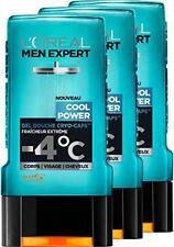 3 Gel Douche Cryo-Caps Cool Power Fraîcheur Extrême Men Expert L'Oréal 3x300ml