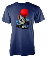 Stephen King IT Pennywise The Clown Red Balloon  Adult T Shirt