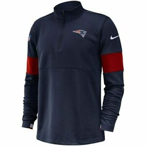 Nike New England Patriots Sideline Performance Half-Zip Pullover Men L Therma