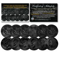 EISENHOWER IKE DOLLARS BLACK RUTHENIUM 6-COIN Complete Set of 6 Years 1971-1978