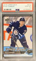 2016 2017 Kyle Connor PSA 10 X1 UPPER DECK YOUNG GUNS ROOKIE CARD RC #212 Jets
