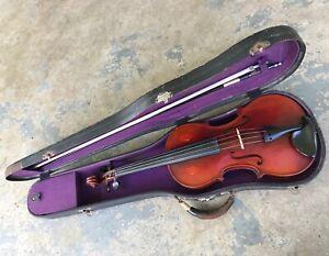 1958 F.R. Davidson #7 Violin w/ Bows & Case. 4/4. Made in Leipsic, Ohio.