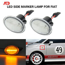 LED SIDE MARKER LIGHT TURN SIGNAL LAMP CLEAR FOR FIAT 4S 500 MCA MY201 3P NUOVA