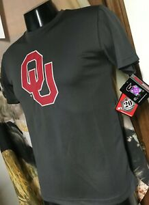 new Colosseum OU Sooners Gray Performance athletic T SHIRT Boys Youth L 16-18