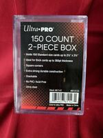 NEW Ultra PRO 150 Count 2-Piece CARD STORAGE BOX Case Sports Gaming MTG 81147