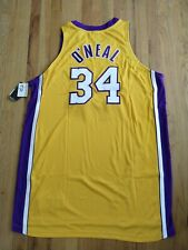 NIKE AUTHENTIC LA LAKERS SHAQ O'NEAL PRO CUT JERSEY sz 56 w 6 extra inches RARE!