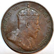 1902 Hong Kong 1 Cent KM# 11 1902年香港一仙铜币