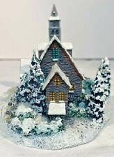 Thomas Kinkade 1996 Hawthorne Village Moonlit Church Cottage Numbered A3893