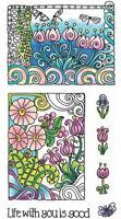 COLOR ME LIFE - Hampton Art Coloring Clear Stamp Set - Scrapbook Stamping SALE