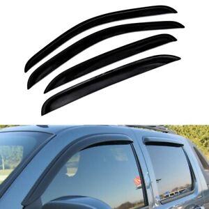 For 2007-2013 Chevy Silverado Smoke Window Sun Rain Visors Vent Guard Crew Cab