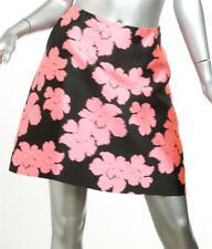 LANVIN Womens Black Pink Floral Flower Print Above Knee Pencil Skirt 10-42 NEW