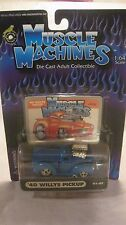 Muscle Machines 1940 Willys Pickup In A Blue 1:64 Scale Diecast 2000  NEW dc1240